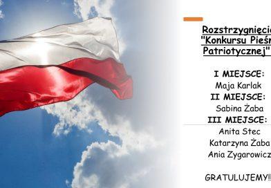 """Wyniki """"Konkursu Pieśni Patriotycznej"""""""